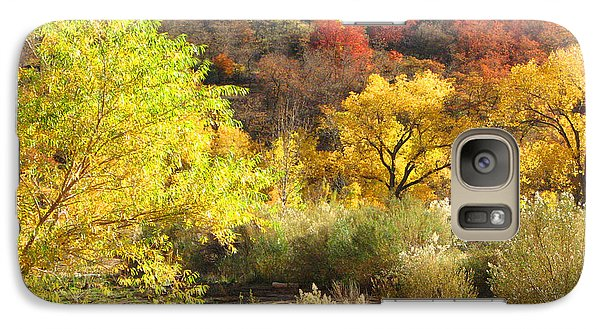 Galaxy Case featuring the photograph Autumn In Zion by Alan Socolik