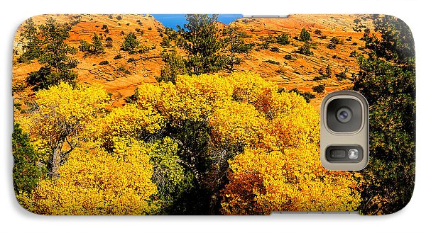 Galaxy Case featuring the photograph Autumn In Zion by Greg Norrell