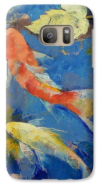 Autumn Koi Garden Galaxy S7 Case by Michael Creese
