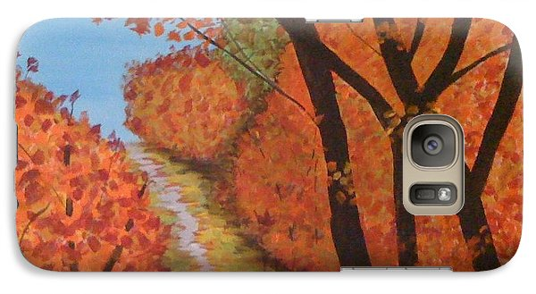 Galaxy Case featuring the painting Autumn Lane by Judi Goodwin