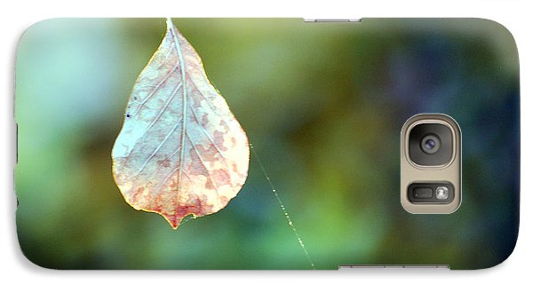 Galaxy Case featuring the photograph Autumn Leaf Suspended by Linda Cox