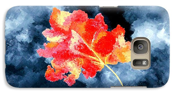 Galaxy Case featuring the painting Autumn Leaf by Thomas Gronowski