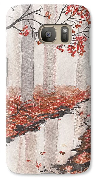 Galaxy Case featuring the pastel Autumn Leaves by David Jackson