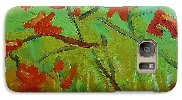Galaxy Case featuring the painting Autumn Leaves by Francine Frank