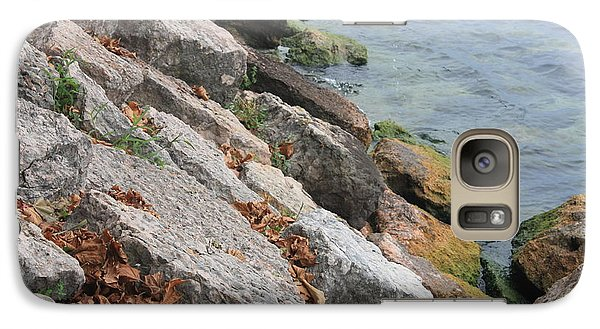 Galaxy Case featuring the photograph Autumn Leaves Lake Garda Italy by Jean Walker