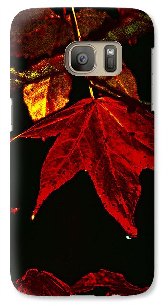 Galaxy Case featuring the photograph Autumn Leaves by Lesa Fine