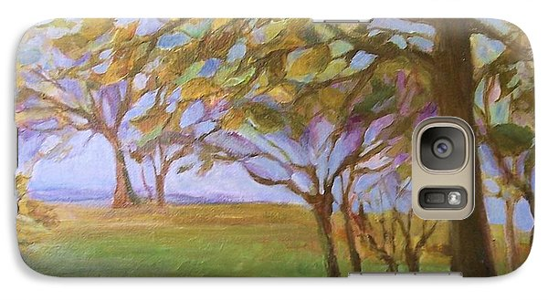 Galaxy Case featuring the painting Autumn Leaves by Mary Wolf