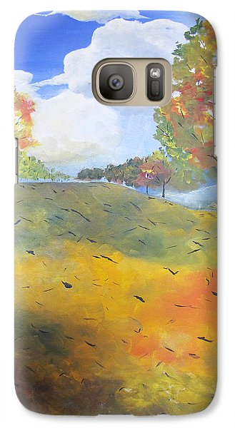 Galaxy Case featuring the painting Autumn Leaves Panel 2 Of 2 by Gary Smith