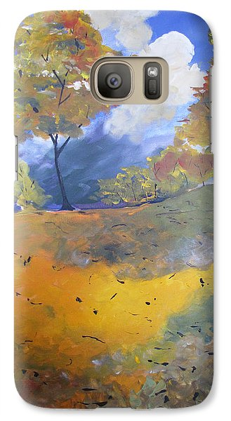 Galaxy Case featuring the painting Autumn Leaves Panel1 Of 2 Panels by Gary Smith