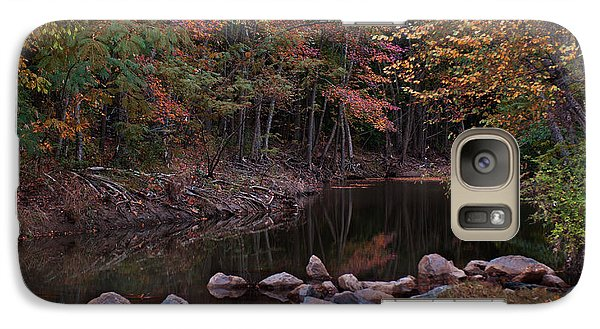 Autumn Leaves Reflecting In The Stream Galaxy S7 Case
