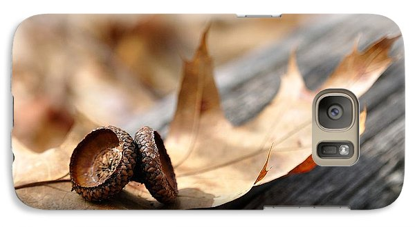 Galaxy Case featuring the photograph Autumn Leaves With Acorn Caps 002 by Todd Soderstrom