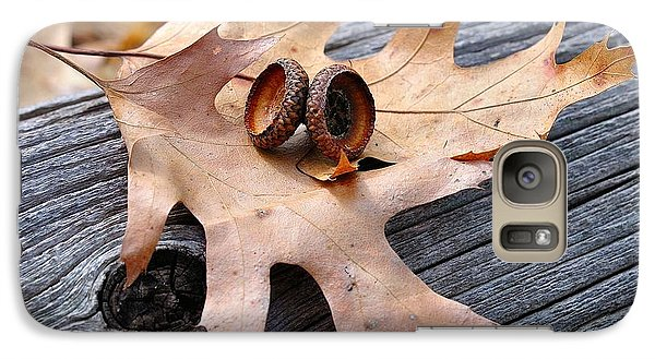Galaxy Case featuring the photograph Autumn Leaves With Acorn Caps 003 by Todd Soderstrom