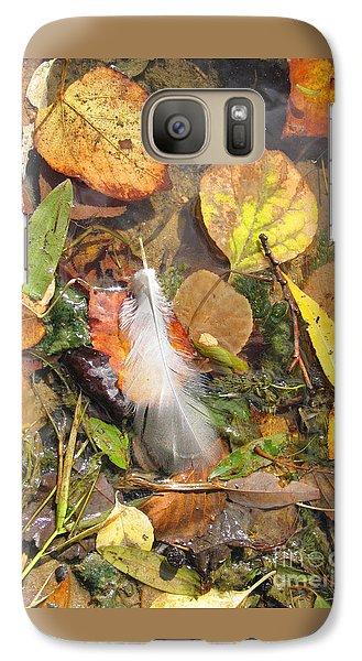 Galaxy Case featuring the photograph Autumn Leavings by Ann Horn