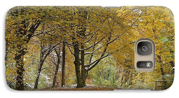 Galaxy Case featuring the photograph autumn on Moenchsberg in Salzburg by Rudi Prott