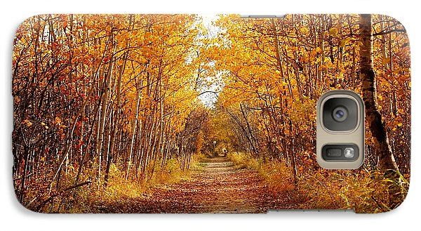 Galaxy Case featuring the photograph Autumn On The Harte Trail by Larry Trupp