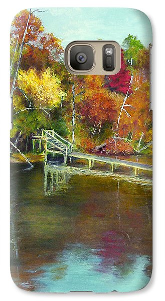 Galaxy Case featuring the painting Autumn On The James by Sandra Nardone