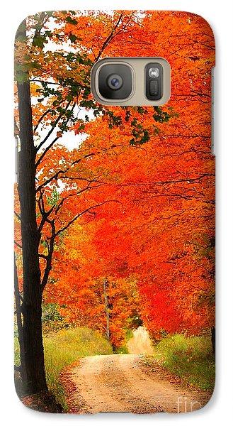 Galaxy Case featuring the photograph Autumn Orange 2 by Terri Gostola