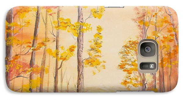 Galaxy Case featuring the painting Autumn Path by Cathy Long