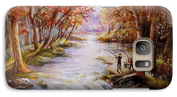 Galaxy Case featuring the painting Autumn Peace by Patricia Schneider Mitchell