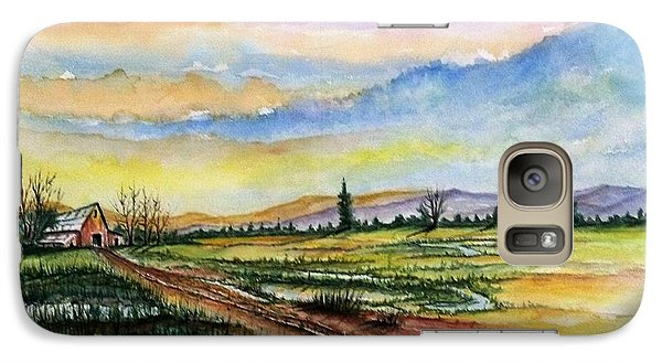 Galaxy Case featuring the painting Autumn Rain #2 by Richard Benson