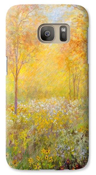 Galaxy Case featuring the painting Autumn Rain by Lou Ann Bagnall
