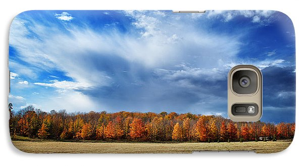 Galaxy Case featuring the photograph Autumn Rain Over Door County by Mark David Zahn
