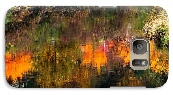 Galaxy Case featuring the photograph Autumn Reflection by Crystal Hoeveler