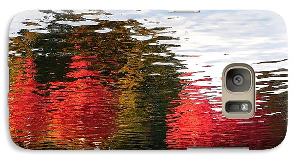 Galaxy Case featuring the photograph Autumn Reflection In Elliot Bay by Karen Molenaar Terrell