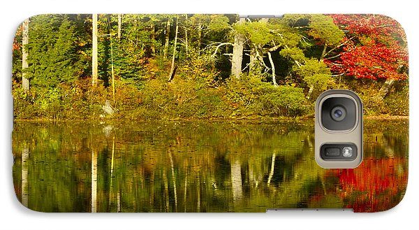 Galaxy Case featuring the photograph Autumn Reflections by Alice Mainville