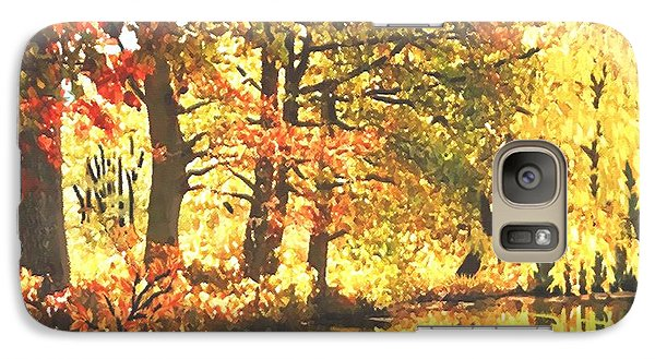 Galaxy Case featuring the painting Autumn Reflections by Sophia Schmierer
