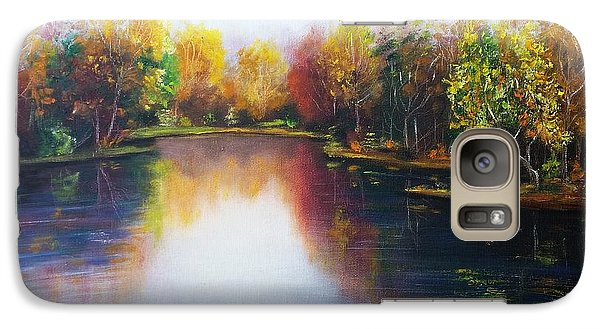 Galaxy Case featuring the painting Autumn Reflections  by Vesna Martinjak