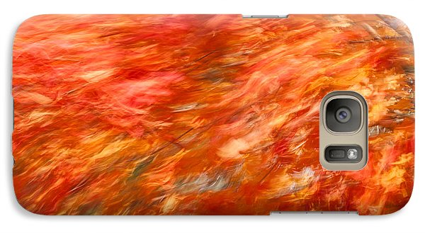 Galaxy Case featuring the photograph Autumn River Of Flame by Jeff Folger