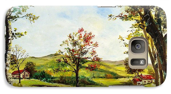Galaxy Case featuring the painting Autumn Road by Lee Piper