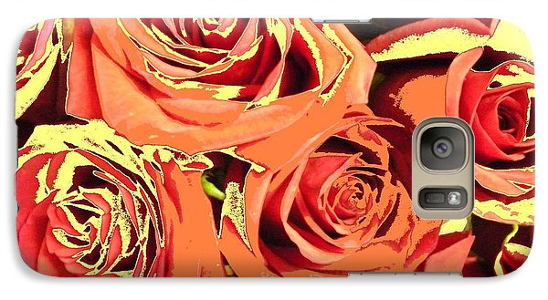Galaxy Case featuring the photograph Autumn Roses On Your Wall by Joseph Baril