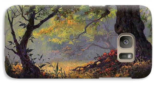 Galaxy Case featuring the painting Autumn Shade by Michael Humphries