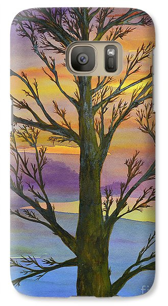 Galaxy Case featuring the painting Autumn Sky by Suzette Kallen