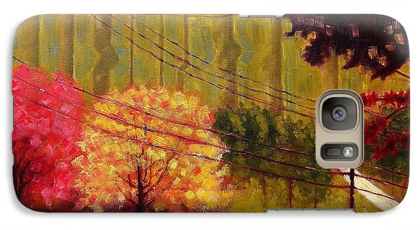 Galaxy Case featuring the painting Autumn Slopes by Jason Williamson