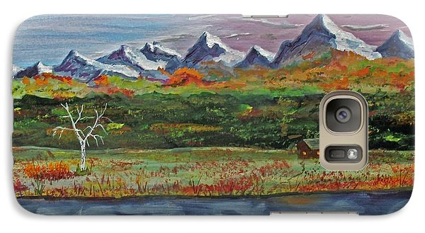 Galaxy Case featuring the painting Autumn Splendor  140403 by Jack G  Brauer