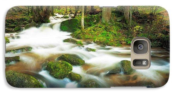 Galaxy Case featuring the photograph Autumn Stream by Maciej Markiewicz