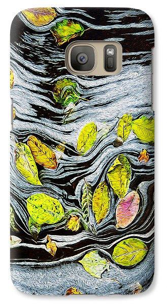 Galaxy Case featuring the photograph Autumn Stream by Vladimir Kholostykh