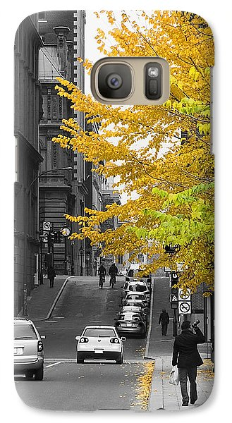 Galaxy Case featuring the photograph Autumn Stroll by Nicola Nobile