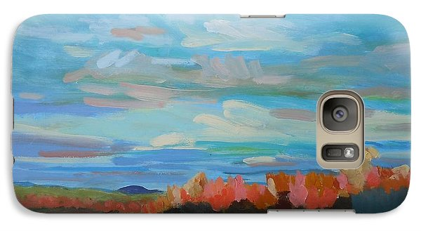 Galaxy Case featuring the painting Autumn Sunrise by Francine Frank