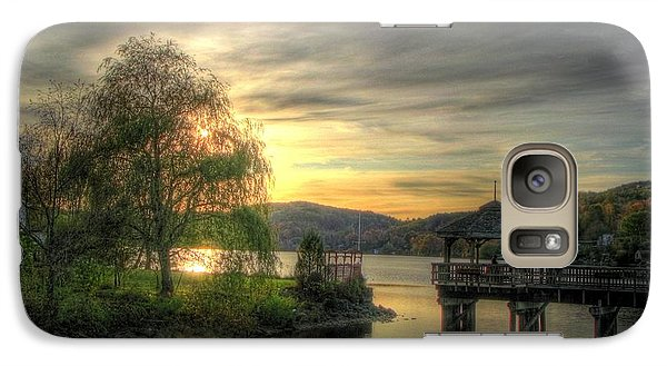 Galaxy Case featuring the photograph Autumn Sunset by Nicola Nobile