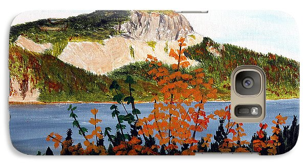 Galaxy Case featuring the painting Autumn Sunset On The Hills by Barbara Griffin