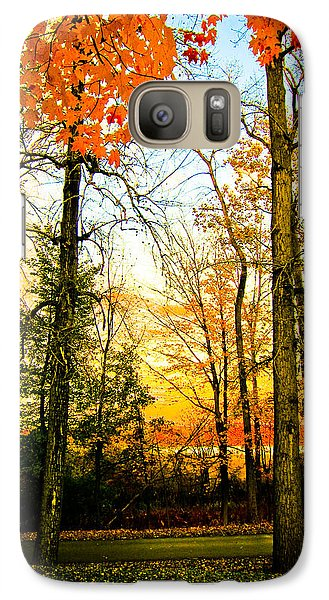 Galaxy Case featuring the photograph Autumn Sunset  by Sara Frank