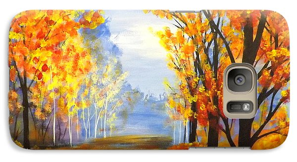 Galaxy Case featuring the painting Autumn Trail by Darren Robinson