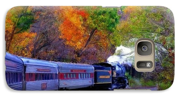 Galaxy Case featuring the painting Autumn Train by Bruce Nutting