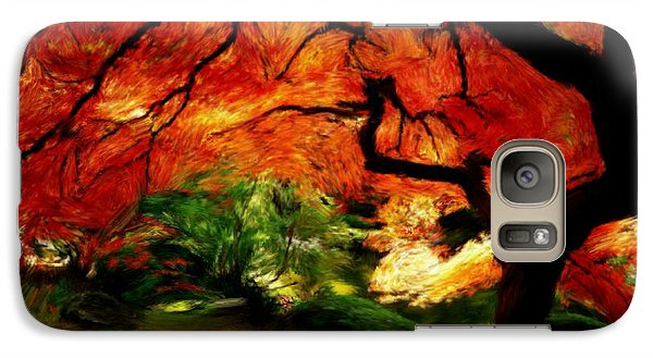 Galaxy Case featuring the painting Autumn Tree by Bruce Nutting