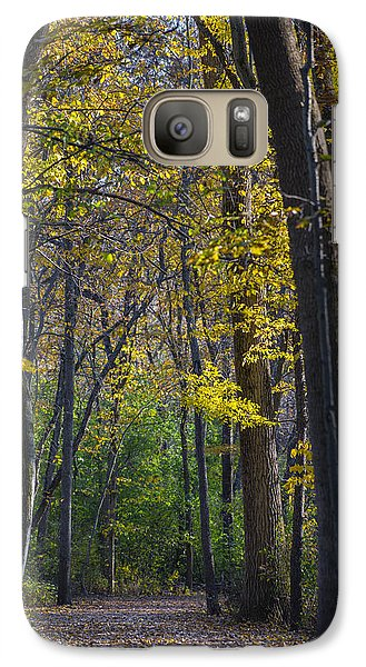 Galaxy Case featuring the photograph Autumn Trees Alley by Sebastian Musial