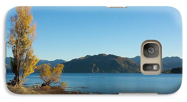 Galaxy Case featuring the photograph Autumn Trees At Lake Wanaka by Stuart Litoff
